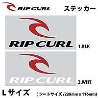 RIP CURL Lサイズ STICKER C01-003( 1.BLK,約239mm×116mm)