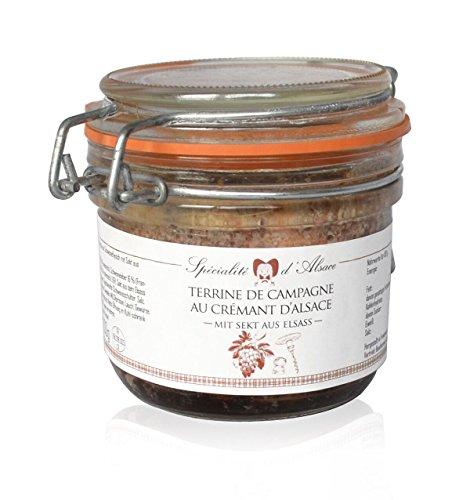 Terrine de Campagne mit Crémant d'Alsace, französische Pastete, 200g
