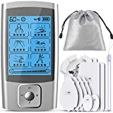 TEC.BEAN Tens Unit for Pain Management and Rehabilitation with 16 Modes and 8 Pads Pulse Impulse Massager Great for Treating Pain and Muscle Relief