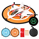Decdeal Portable Foldable Drone Landing Pad Lightweight Collapsible Reflective/Luminous Landing Pad for Drone