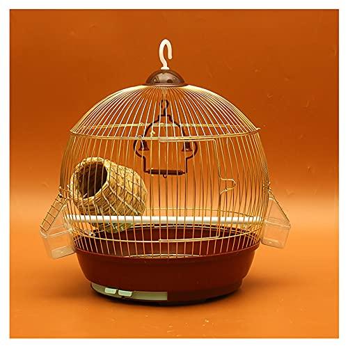 Xu Yuan Jia-Shop Jaula de Pájaros Loro Metal Jaula de pájaros Gran Acero Inoxidable electrochaplating Starling myna xuanfeng peonía Hierro Loro Jaula Espaciosa Jaula (Color : B)