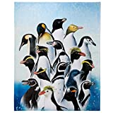Penguin Throw Blanket, Adorable Super-Soft Extra-Large Penguin Blanket for Girls, Boys, Adults, Teen, Kids and Children, Fleece Penguin Blanket (50in x 60in) Warm and Cozy Throw for Bed Crib or Couch