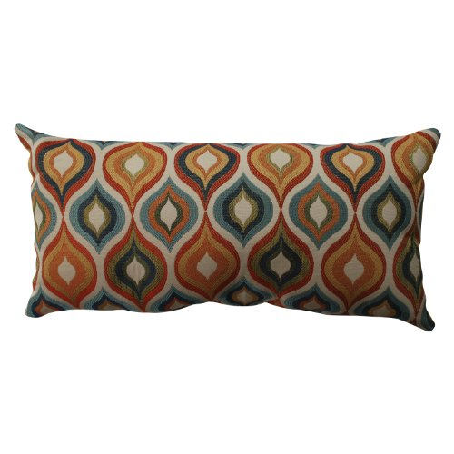 Pillow Perfect Flicker Jewel Bolster Throw Pillow,Multicolor