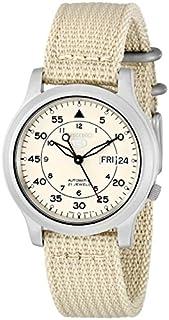 Seiko Men's SNK803 Seiko 5 Automatic Watch with Beige Canvas Strap (B000G6R7B8)   Amazon price tracker / tracking, Amazon price history charts, Amazon price watches, Amazon price drop alerts