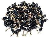 500 Pcs Ground Wire Black Flex Clips with Screw 10 12 14 Gauge GA AWG