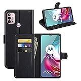 Fertuo Hülle für Motorola Moto G30 / Moto G10 / Moto G20, Handyhülle Leder Flip Hülle Tasche mit Standfunktion, Kartenfach, Magnetschnalle, Silikon Bumper Schutzhülle Cover für Moto G30 / G10, Schwarz
