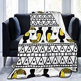 ngxianbaimingj manta de franela, patrón de tela Toucan cosido borde acogedoras mantas, felpa térmica portátil alfombra para cama sofá sofá 50 x 40 pulgadas