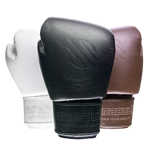 Sanabul Battle Forged Thai Style Kickboxing Professional Gloves (Black, 14 oz)