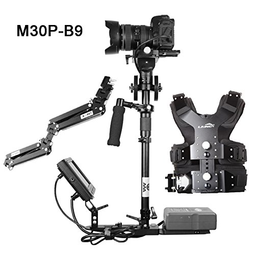 Laing 2015 New M30P-B9 / with 1-10kg B9 Stabilizer and X28 Vest Arm for Video Camera DSLR Support Monitor & Battery