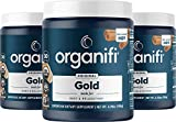 Organifi: Gold - Superfood Supplement Powder- 90 Servings (3 Pack) - Stress Support, Better Rest, Relaxation and Promotes Restful Sleep - Turmeric and Reishi Infused