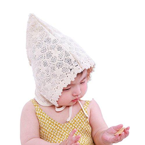 Vovotrade® Spring Summer Sweet Printemps Été Doux Princesse Creux Bébé Filles Baby Girls Hat Kids Chapeau Enfants Fleur Dentelle Lace Floral Cap (Beige)