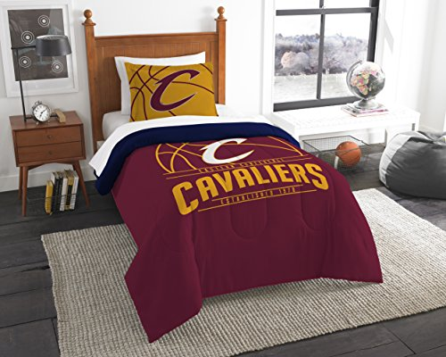 The Northwest Company Officially Licensed NBA Cleveland Cavaliers Reverse Slam Twin Comforter and Sham