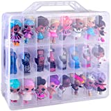 48 Compartment Toys Organizer Storage Case for Dolls, Hot Wheels Car, Matchbox Cars, LPS Figures, Shopkins, Lego Dimensions and More (ONLY A Box)