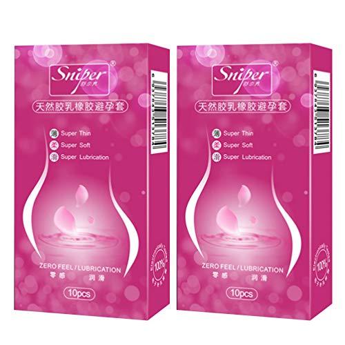 Artibetter 20Pcs Geschmierte Kondome Super Dünne Und Weiche Kondome Fühlen Sich Latexkondome Rosig an
