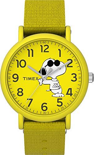 Timex Peanuts Weekender 34mm Fabric Strap Watch - Joe Cool Yellow - TW2T65900