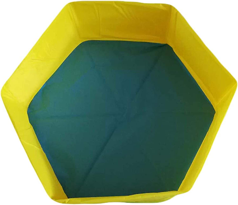 Hexagon Portable Pet Tub Collapsible Dog Cat Tub Large Bath Pet Pool Yellow (color   Yellow)