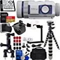 SiOnyx Aurora Sport Water-Resistant IR Night Vision Camera with Basic Action Bundle: Bundle Includes - SanDisk Extreme 32GB MicroSDXC Memory Card with Adapter, 3-Way Pipe Mount, and Much More by SiOnyx