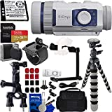 SiOnyx Aurora Sport Water-Resistant IR Night Vision Camera with Basic Action Bundle: Bundle Includes - SanDisk Extreme 32GB MicroSDXC Memory Card with Adapter, 3-Way Pipe Mount, and Much More