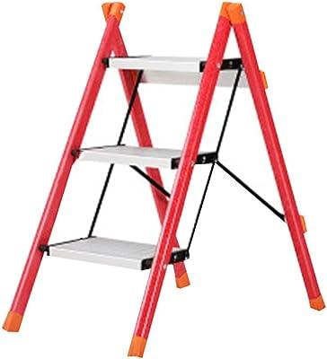 QQXX Taburete, Escalera Plegable para el hogar, Escalera de Pedal de Aluminio (Color: # 1): Amazon.es: Hogar