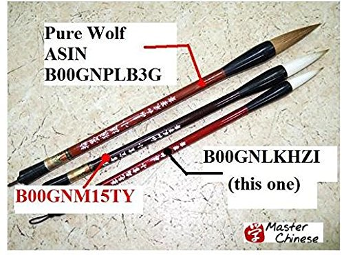 MasterChinese Watercolor Chinese Calligraphy Painting Sumi Drawing Beginner Brush (Goat-Wolf) Set - Kids Friendly