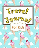 Travel Journal For Kids: Vacation Planner - Memory Book and Kids Journal - Write, Draw, Small Travel Journal - Flamingo Ice Cream [Idioma Inglés]