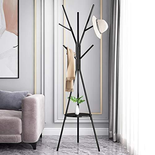 BNXTF kapstok, staand Entryway kledingrek Coat Tree hoed-hanger jack Umbrella Tree garderobestandaard van metaal (zwart)