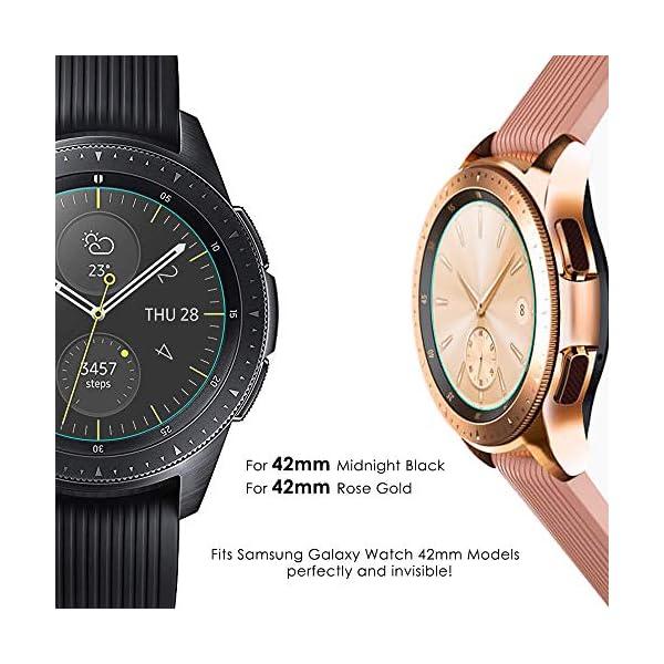 KIMILAR [3 Pcs] Pantalla Compatible con Samsung Galaxy Watch 42mm/Galaxy Watch 3 41mm Protector Pantalla, Templado… 6