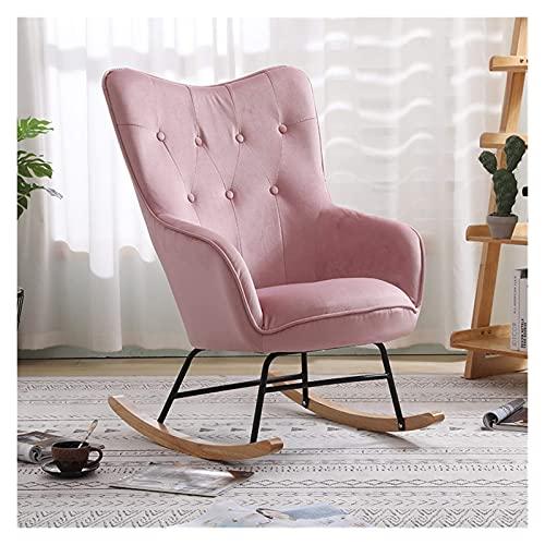 KUYH Silla mecedora de la sala de estar, silla mecedora individual sofá silla de salón sillón sala de estar dormitorio balcón silla de siesta silla perezosa
