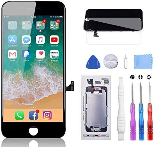 YPLANG Display für iPhone 7 Schwarz 4,7 Zoll Ersatz LCD Touchscreen Digital Bildschirm mit Komplettes Reparaturset