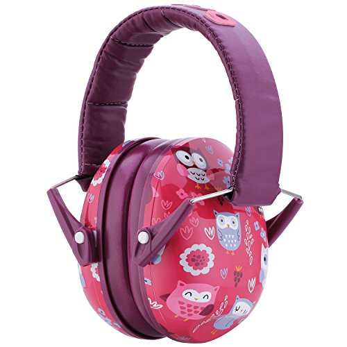 Snug Kids Earmuffs/Hearing Protectors – Adjustable Headband Ear Defenders For Children and Adults (Owls)