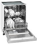 Exquisit Geschirrspüler EGSP 2112.1 E/B | Teilintegriert, Einbaugerät | 12 Maßgedecke | Weiß
