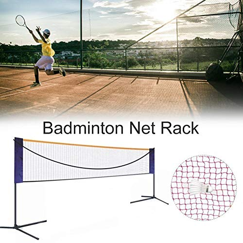 Morningtime Badminton Net Garden Portable Shuttlecock Net with Adjustable Heights, Foldable Volleyball and Tennis Net for Outdoor and Indoor
