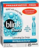 Blink Tears Lubricating Eye Drops Mild-Moderate Dry Eye, 25 Pk - 0.01 oz, Pack of 2