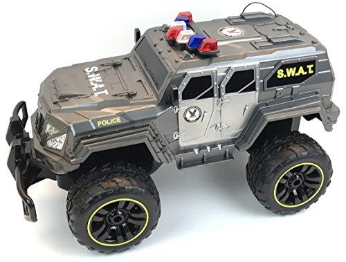 RC Auto kaufen Monstertruck Bild 4: BUSDUGA - 2486 RC Monstertruck Polizei SWAT, 1:12 , RTR, inkl. 13 LED Lichter , Signallichter mit 4 Intervallen*
