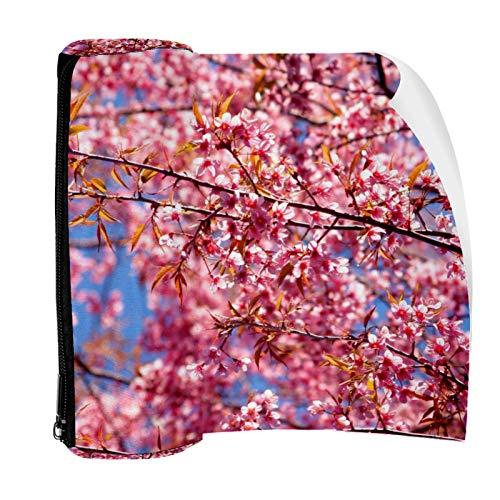 Sakura - Estuche para lápices, diseño de flores, color rosa