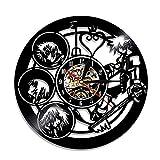 YUN Clock@ Kingdom Hearts Disco in Vinile Orologio da Parete Famiglia Muro Decorazione - creatività 3D Orologio Vintage Arte Design Gift/Diametro 30