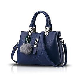 Tisdaini® Sacs portés Main Femme Tendance Loisir Sacs portés épaule Sacs bandoulière Cabas Bleu Royal