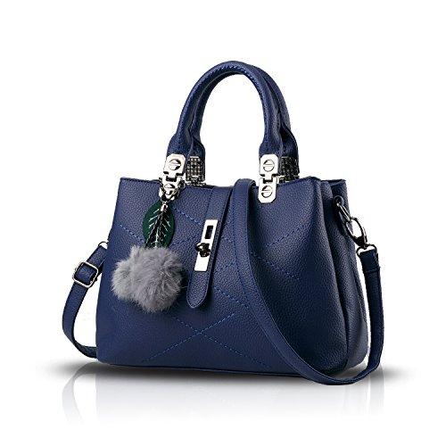 Tisdaini® Donna Borse a mano Borse a tracolla moda casual Borse a spalla Borse Tote Blu Reale