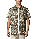 Columbia Camisa de Campamento de Marea súper Holgada para Hombre, Hombre, 1653764, Alpine Tundra Flatslam Tropical Print, 2X
