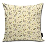 DearL Baxter The Sand Cat Kawaii Cute Animal Cartoon Kissenbezüge Throw Pillow Cover Home Decor for Home Decor Sofa Schlafzimmer Auto 45,7 x 45,7 cm
