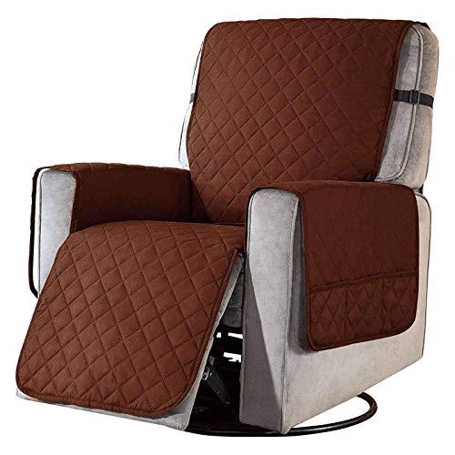 DHTOMC Reversible Recliner Stuhlbezug Recliner Schonbezug, Soft Recliner Bezug Sofa Schonbezug Sesselbezüge Möbelschutz für Recliner Armchair-Deep Coffee-L