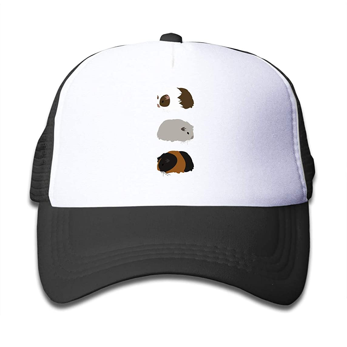 Kid's Boys Girls Guinea Pig Trio Youth Mesh Baseball Cap Summer Adjustable Trucker Hat
