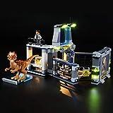 icuanuty Kit de Iluminación LED para Lego 75927, Kit de Luces Compatible con Lego Jurassic World - Fuga del Stygimoloch (No Incluye Modelo Lego)