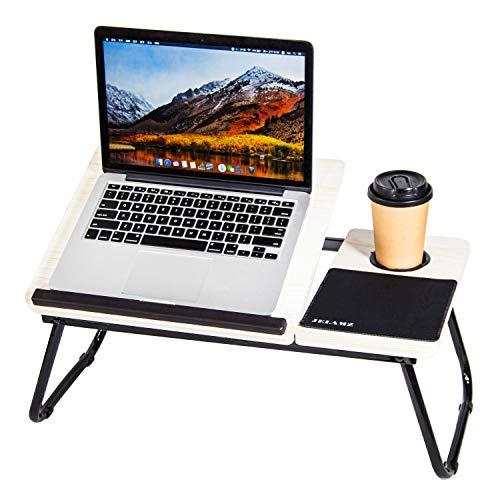 Verstellbares Laptop-Bett – Tablett für Notebook-Ständer Schreibtisch, tragbarer Knietisch, Schreibtisch (weißer Ahorn)