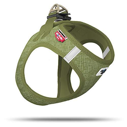 Curli Vest Geschirr Air-Mesh Linen Olive Special Edition SE19 SE-OLI Größe M von mylittledog