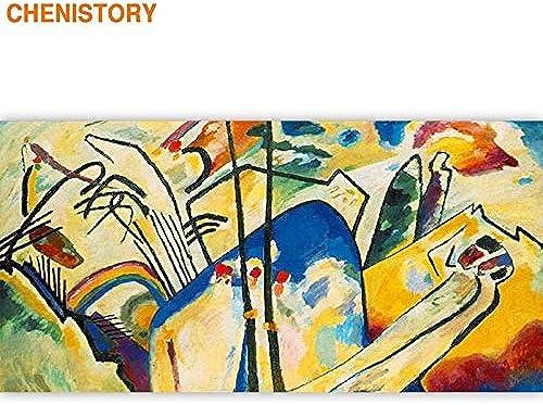 Kykdy Rahmen Berühmte Bild Diy Malen Nach Zahlen Abstrakte Acryl
