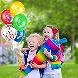 iZoeL Schuleinführung Schulanfang Einschulung Banner Deko Alles Gute Zum Schulanfang Filz Girlande + 15 Konfetti Luftballon für Junge Mädchen - 3