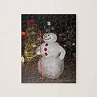 daoyiqi大人のための500ピースパズルラージパズルスノーマン&クリスマスツリー木製知的パズル楽しい挑戦的な家族の活動ゲームの壁の装飾