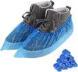 100Pcs Cubre Zapatos Desechables Fundas de Zapatos Desechables,Fundas de Zapatos de Plástico Impermeables Cubrezapatos Antideslizantes para Uso Múltiple