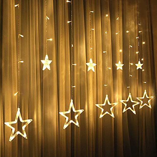 3.5M 220V LED Moon Star Lamp Christmas Garland String Lights Fairy Curtain Light For New Year Party Bar Wedding Holiday Decor - Warm White Style 3,a1,110V US Plug